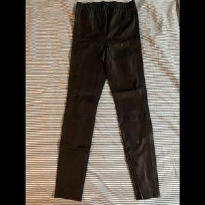 JBRAND Edita Black Leather Legging